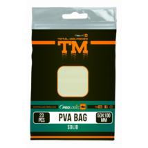 PROLOGIC TM PVA Solid Bullet Bag W/Tape 15pcs 40X100mm zsák zárószalaggal