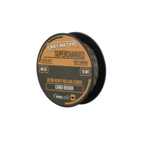 Prologic Supercharged Hollow Leader 7m 50lbs Camo Brown