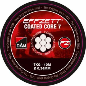 DAM EFFZETT COR7 10M FEKETE 7-szálas sodrott acélelőke