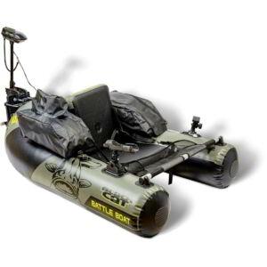 Black Cat Battle Boat szett, gumicsónak elektromos motorrral