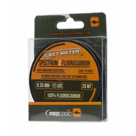 Prologic Spectrum Z Fluorocarbon 25m 0.35mm 22lbs előke damil