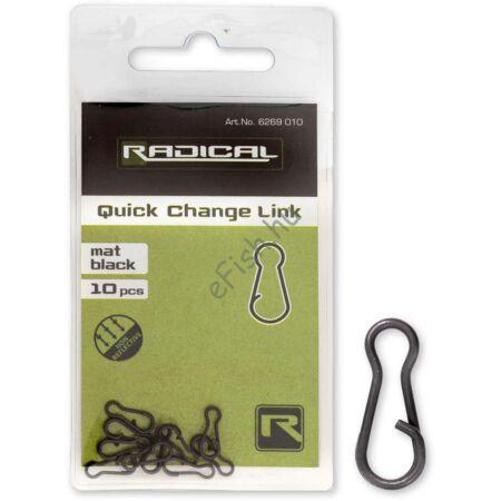 Radical Gyorskapocs összekötő mat black non reflective 10darab