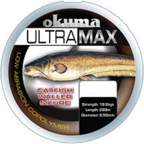 Okuma Ultramax 2oz Cat Fish 245m 41lbs 19.6kg 0.50mm Brown