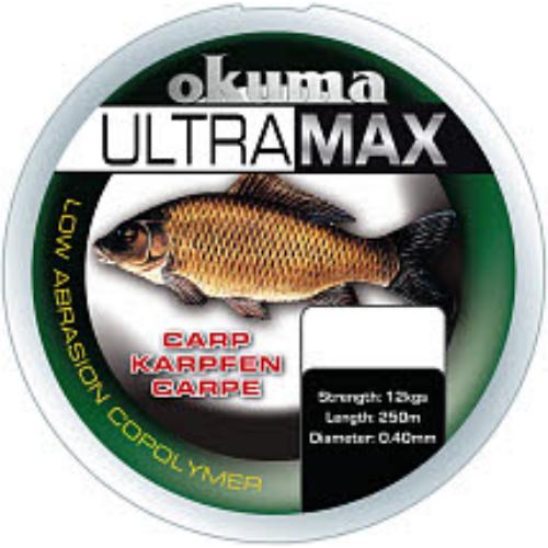 Okuma Ultramax 2oz Carp 385m 26lbs 12kg 0.40mm Brown
