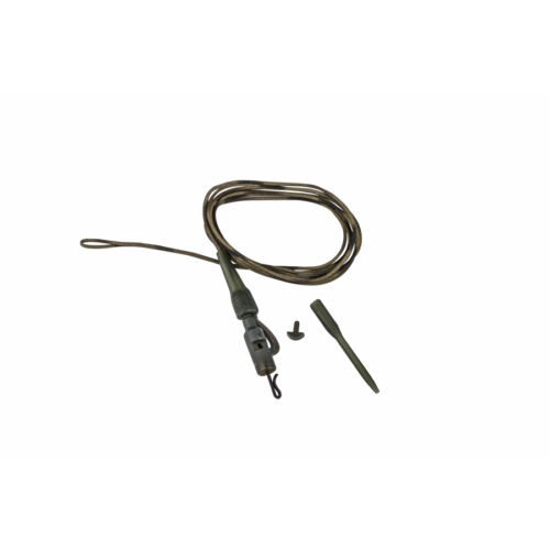 Prologic Safetly Clip QC Swivel Metal Core Leader 80cm 45lbs 3db előtétzsinór