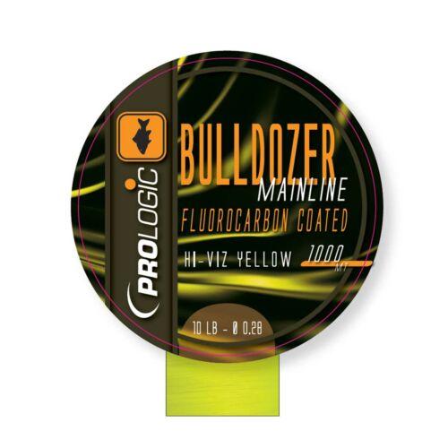 PROLOGIC Bulldozer FC Coated Mono Fluo Yellow 1000m 12lbs 0.31mm FUORKARBON BEVONATOS MONOFIL ZSINÓR