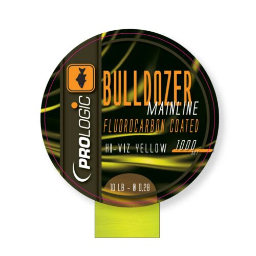 PROLOGIC Bulldozer FC Coated Mono Fluo Yellow 1000m 10lbs 0.28mm FUORKARBON BEVONATOS MONOFIL ZSINÓR