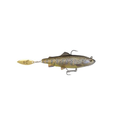 SAVAGE GEAR 4D Trout Spin Shad 11cm 40g MS 03-Dark Brown Trout