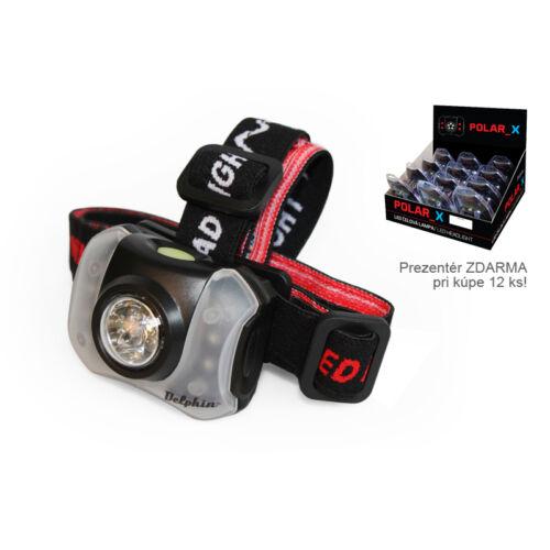 Fejlámpa Delphin POLAR_X-5+4 LED