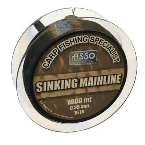 AMS35 ASSO CARP MAINLINE SINKING 1000M 0,35 Süllyedő pontyos főzsinór