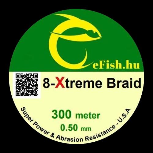 eFISH XTreme 8-BRAID 300M / 0.60MM HARCSÁZÓ FONOTT ZSINÓR SÁRGA