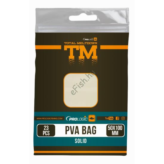 PROLOGIC TM PVA Solid Bullet Bag W/Tape 15pcs 55X120mm zsák zárószalaggal