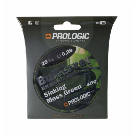 PROLOGIC Bulldozer Braid 450m 25lbs 11.3kg 0.28 Moss Green