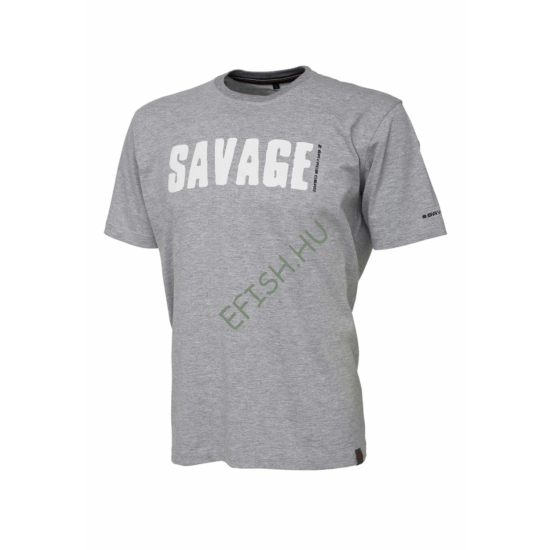 SAVAGE GEAR Simply Savage Tee - Light Grey Melangé M