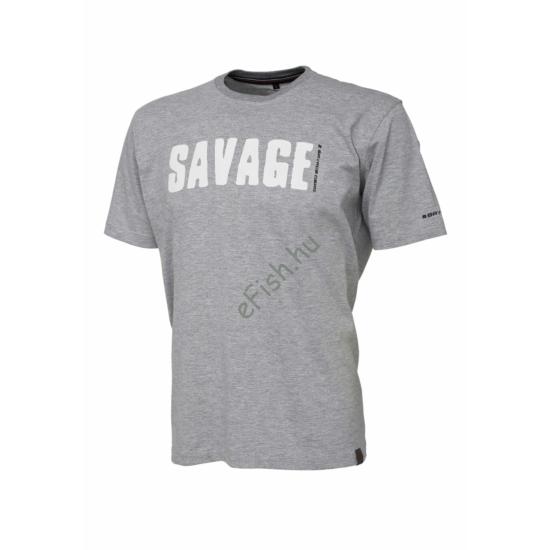 SAVAGE GEAR Simply Savage Tee - Light Grey Melangé XXL