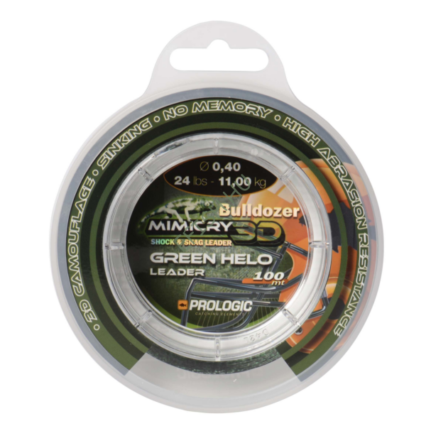 Prologic Mimicry Green Helo Leader 100m 32lbs 15.6kg 0.50mm