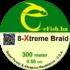 eFISH XTreme 8-BRAID 300M / 0.50MM HARCSÁZÓ FONOTT ZSINÓR SÁRGA