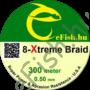 Kép 1/2 - eFISH XTreme 8-BRAID 300M 0.50MM HARCSÁZÓ FONOTT ZSINÓR SÁRGA