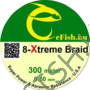 Kép 1/2 - eFISH XTreme 8-BRAID 500M 0.50MM HARCSÁZÓ FONOTT ZSINÓR SÁRGA